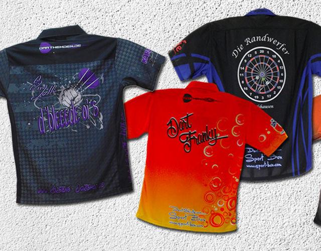 Niedriger Verkaufspreis besserer Preis für heiße Produkte Darthemden bedrucken - Dartsport-Textilien Sport-Box.com